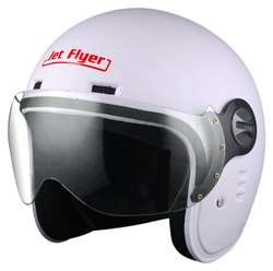 Aaron Helmets Male Motorcycle Helmets - Jet Flyer - Classic (3 Years Warranty), Size: L, For Driving Helmet