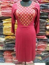 Me Fashion Rayon Embroidered Fancy Kurti