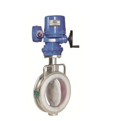 Electrical Actuator Operated Lined 2 Piece Butterfly Valve
