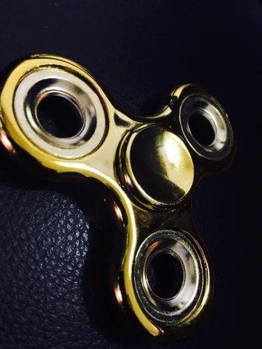 3 Side Metal Hand Fidget Spinner (High Spin Time)