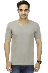 Grey V Neck T Shirt