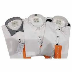 The Button Mens Semi Formal Plain Shirt