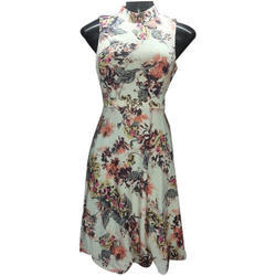 ab0b1a08894 Ladies Sleeveless Printed One Piece Dress