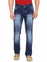 Mens Blue Cotton Jeans