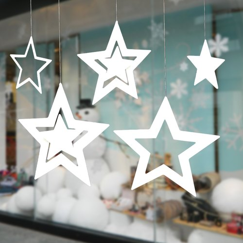 White Decration The Star Paper Wall Hanging, Packaging Type: Packet