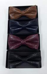 Men's Leather Bow Tie