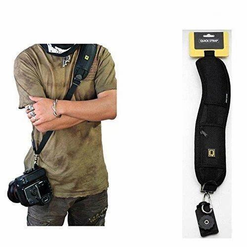 6960c0484e6 Adjustable Rapid Slr Dslr Camera Shoulder Neck Strap Belt Sling Black