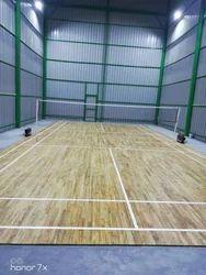 Indoor Wooden Badminton Court Flooring Service