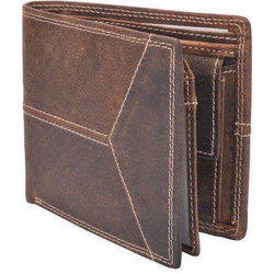 Male Brown Mens Bifold Leather Wallet