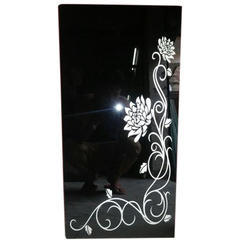 Black Designer Lacard Glass