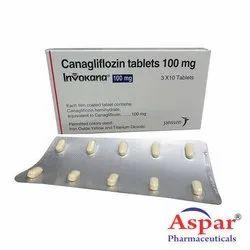 Invokana Canagliflozin 100mg Tablet, Packing Type: Strip