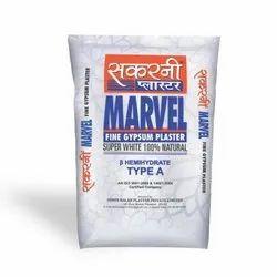 Sakarni Type A Marvel Fine Gypsum Plaster, Packaging Size: 20 and 40 kg
