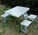 Aluminum Picnic Folding Table With Umbrella