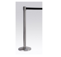 Red And Silver Chrome Chrome Retractable Queue Manager