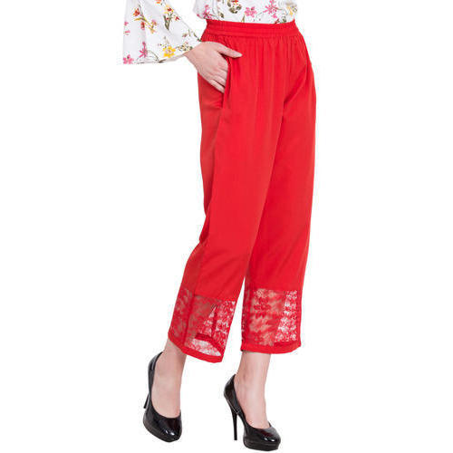 8cfd5525cbb Ladies Red Bottom Lace Trouser