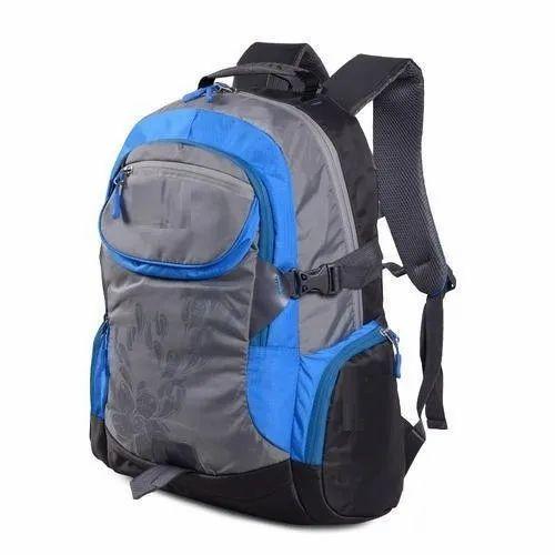 74c522c038 Polyester, Nylon Blue, Grey Designer College Bag, For School Bag, Rs ...