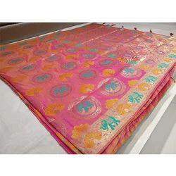 Elephant Printed Banarasi Saree