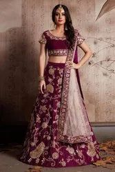 Tapeta Velvet Silk Wedding Lehenga