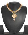 Bindhani Gold Plated Pearl Set, Size: Free