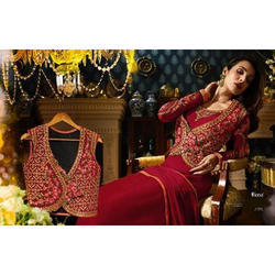 Black Ladies Embroidered Suit With Koti