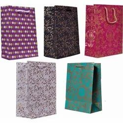 Printed Rope Handle Designer Paper Bag, for Shopping, Capacity: 2kg