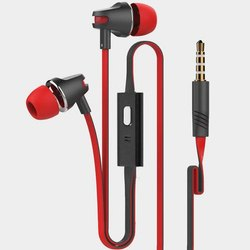 Red and Black Mobile Earphones