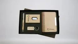 Business Card Holder Gift Pen Set with Box and Key Chain