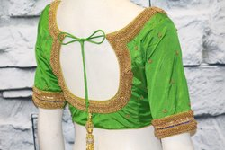 Heavy Bead Work Bridal Blouse Design