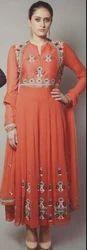 Wedding Wear Orange Colour Suit