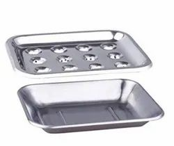 Ridhi Sidhi Bathroom Accessary Stainless Steel Soap Dish, Size: 4x6 Inches, Dimension/Size: 10cm X 13cm