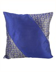 Blue Brocade Patchwork Home Decor Sofa Chair Cushion Cover