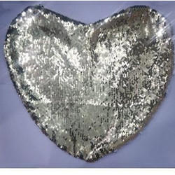 Silver Magic Cushions Heart