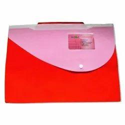 Orange Button Folder