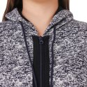 Full Sleeve Zipper Printed Women Sweatshirt