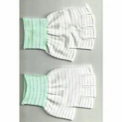 Bajrang White And Green Fingerless Gloves