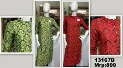 Silk Printed Ladies Casual Kurti