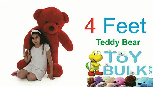 a79e90279 ToYBULK. com Customized Size Rose Red Color Teddy Bear 4 Feet Tall 48 Inch