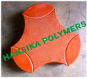 Plastic Injection Molding Cosmic Clubs Rubber Paver Mould, Size: 188 Pcs/100 Sqft