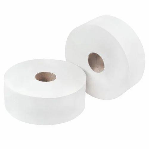 White Plain Jumbo Toilet Roll