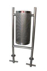 SS Perforated Bin with Pole
