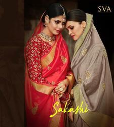 SVA Sakshi Series 1001-1006 Stylish Party Wear Viscose Saree