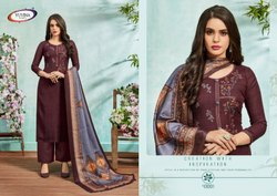 Winter Zisa Yuvina Pashmina with Embroidery Work Designer Suits