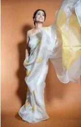 Organza Silk Digital Printed Saree