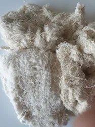 White Yarn Hard Waste for Knitting