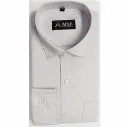 Blended Cotton Formal Wear Mens White Plain Shirt