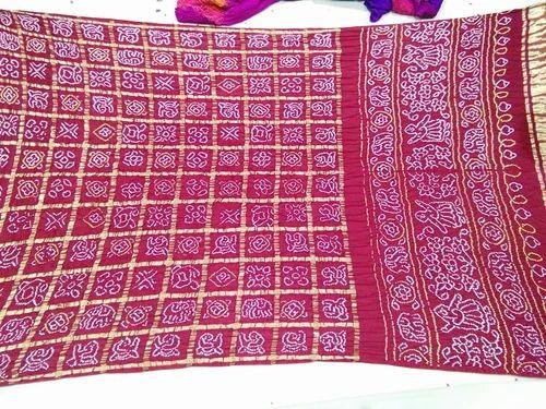 da39aefbca Silk Red Bandhani Gharchola Saree, Rs 8000 /piece, Vijay Saree ...