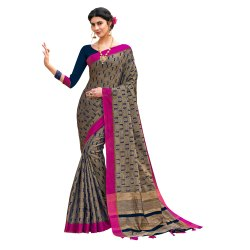 Banarasi Jacquard Weaving Saree With Blouse Piece