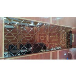 Glossy Glass Decorative Mirror for Office