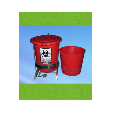 Red Disinfection Bins