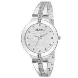 Frosino FRAC101868 Silver Metal Strap Analog Watch